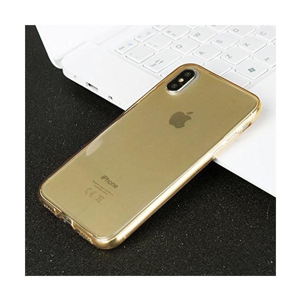 Husa Full TPU 360 (fata + spate) iPhone X, Gold Transparent [2]
