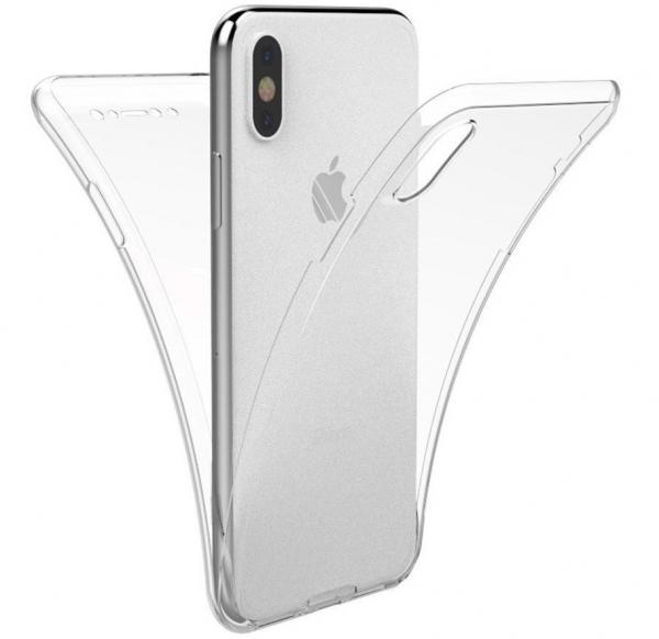 Husa Full TPU 360 fata spate iPhone X, Transparent 0