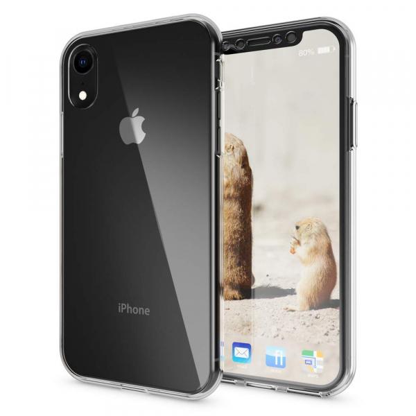 Husa Full TPU 360 fata + spate iPhone XR, Transparent 1
