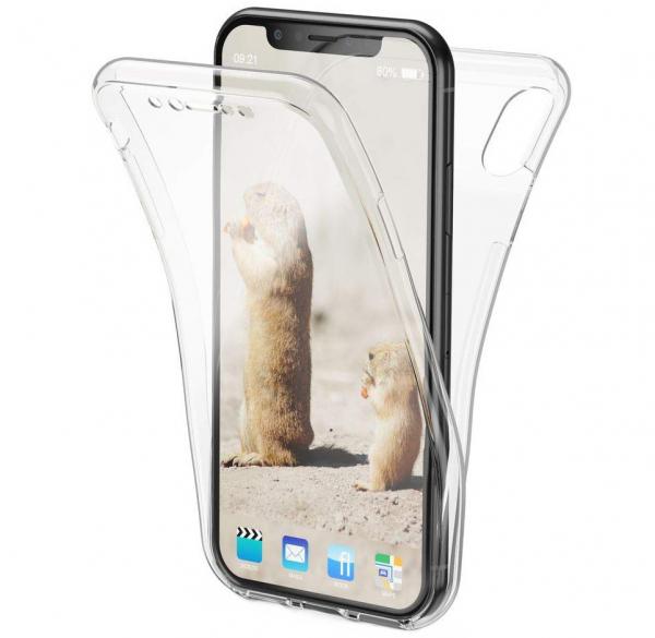 Husa Full TPU 360 fata + spate iPhone XS Max, Transparent 0