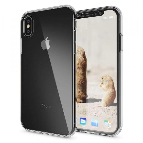 Husa Full TPU 360 fata + spate iPhone XS Max, Transparent 1
