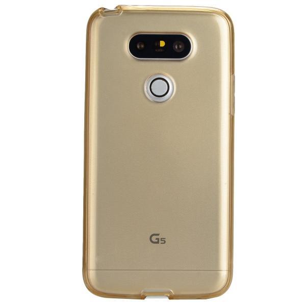 Husa Full TPU 360 (fata + spate) LG G5, Gold Transparent 3