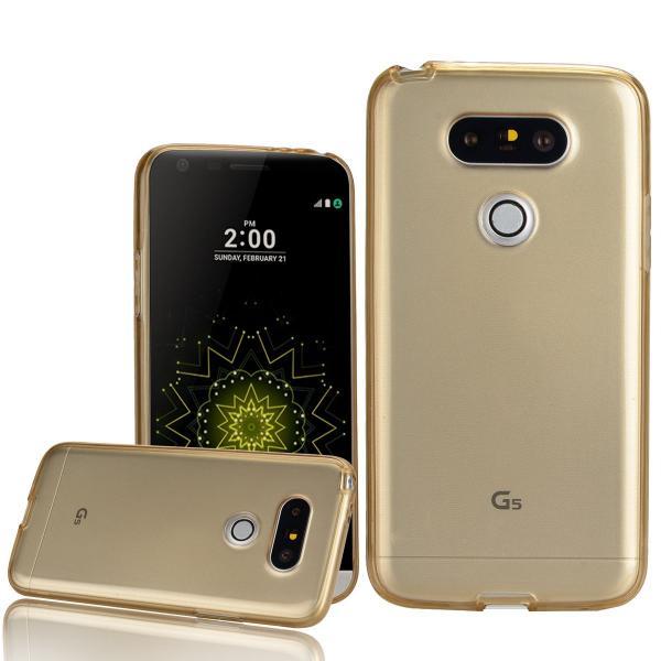 Husa Full TPU 360 (fata + spate) LG G5, Gold Transparent 1