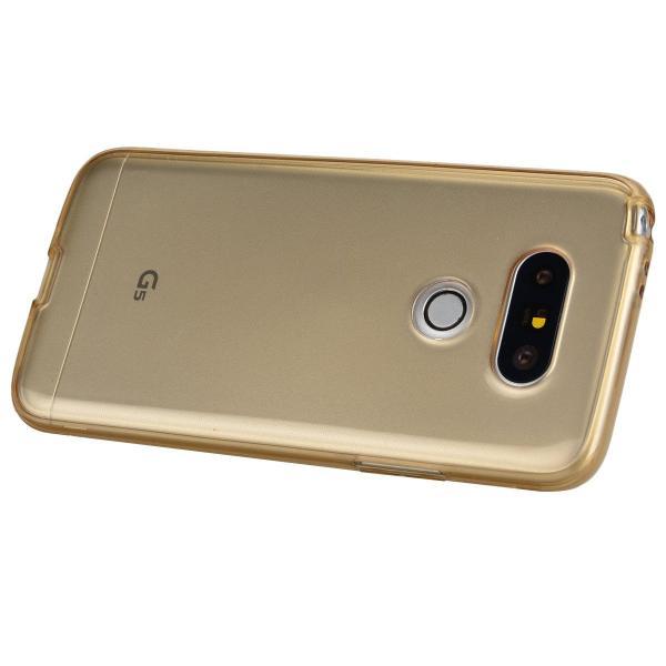 Husa Full TPU 360 (fata + spate) LG G5, Gold Transparent 2