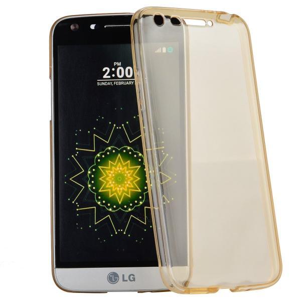 Husa Full TPU 360 (fata + spate) LG G5, Gold Transparent 0