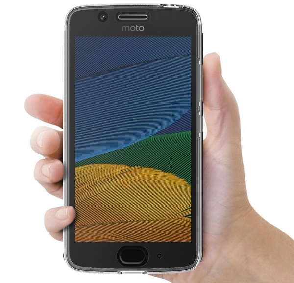 Husa Full TPU 360 fata + spate Motorola Moto G5, Gri Transparent 3