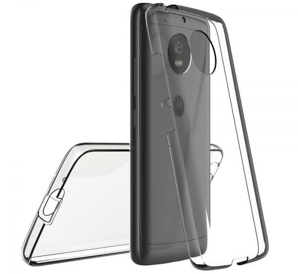 Husa Full TPU 360 fata + spate Motorola Moto G5, Gri Transparent [1]