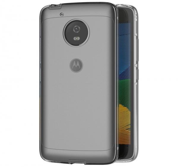 Husa Full TPU 360 fata + spate Motorola Moto G5, Gri Transparent 2