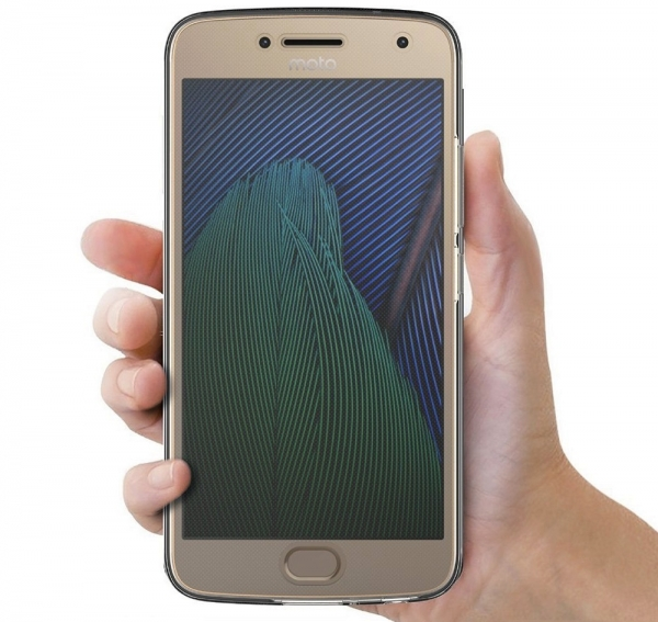 Husa Full TPU 360 fata + spate Motorola Moto G5 Plus, Gri Transparent 3