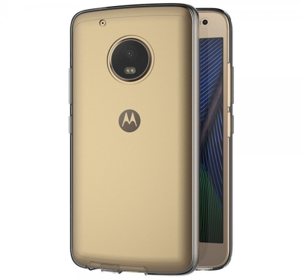 Husa Full TPU 360 fata + spate Motorola Moto G5 Plus, Gri Transparent 2