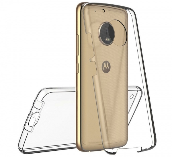 Husa Full TPU 360 fata + spate Motorola Moto G5 Plus, Gri Transparent 1