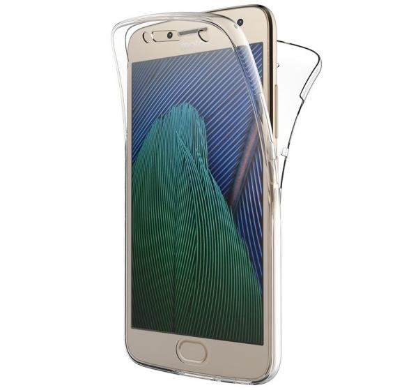 Husa Full TPU 360 fata + spate Motorola Moto G5 Plus, Transparent 0