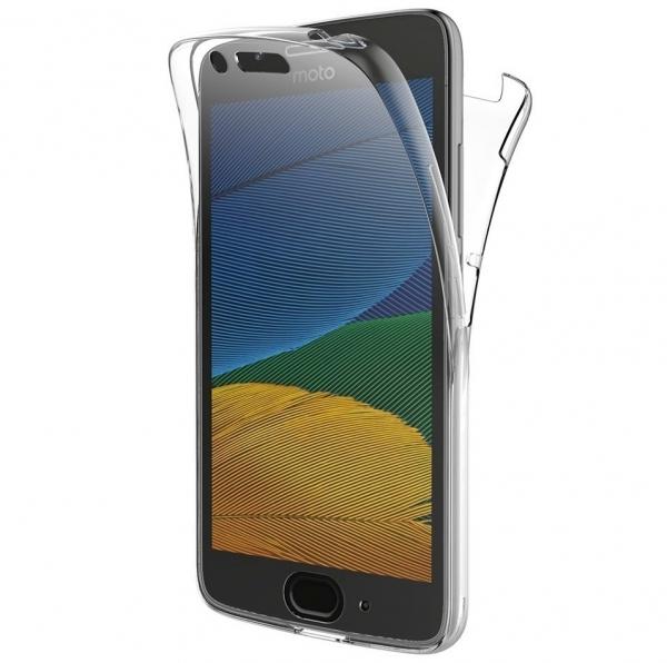 Husa Full TPU 360 fata + spate Motorola Moto G5, Transparent [0]