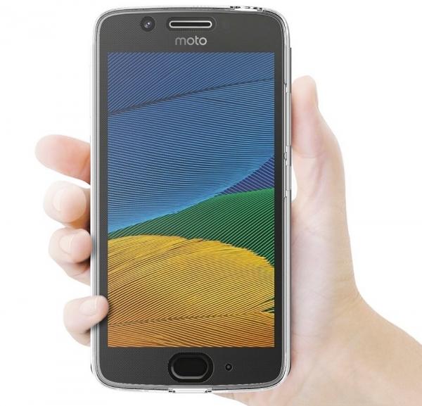Husa Full TPU 360 fata + spate Motorola Moto G5, Transparent 3