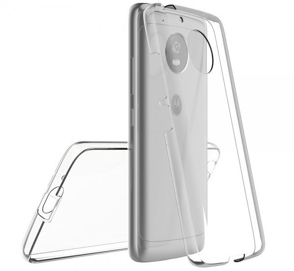 Husa Full TPU 360 fata + spate Motorola Moto G5, Transparent 1