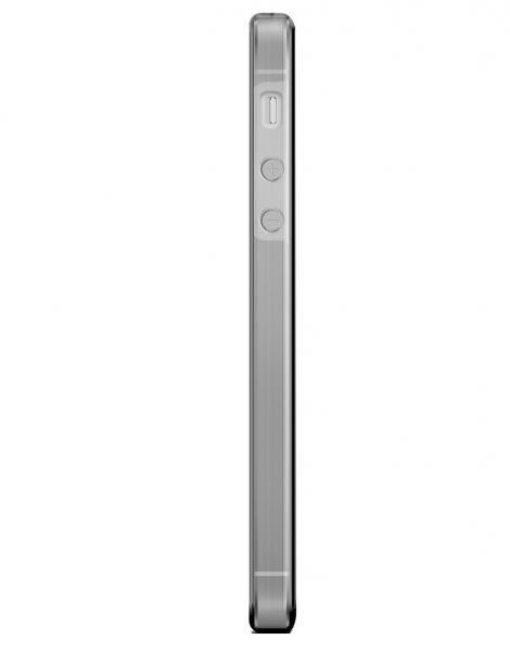 Husa Full TPU 360 (fata + spate) pentru Apple iPhone 5 / 5S / SE, Gri Transparent [3]