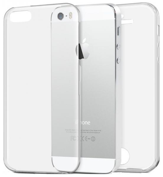 Husa Full TPU 360 (fata + spate) pentru Apple iPhone 5 / 5S / SE, Transparent 0