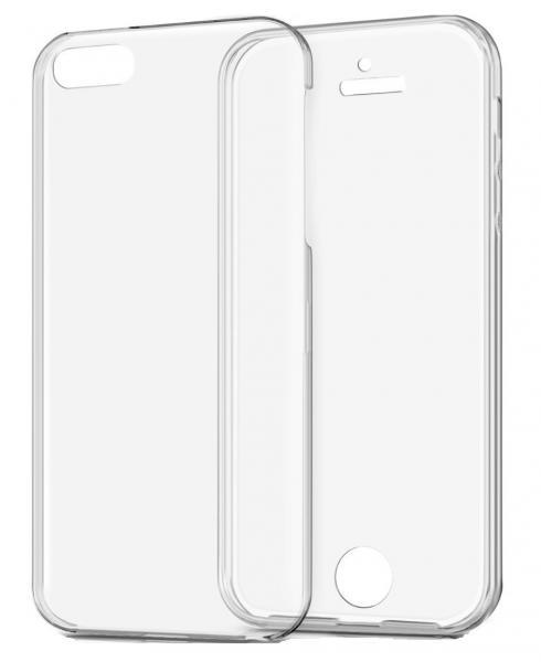 Husa Full TPU 360 (fata + spate) pentru Apple iPhone 5 / 5S / SE, Transparent 2