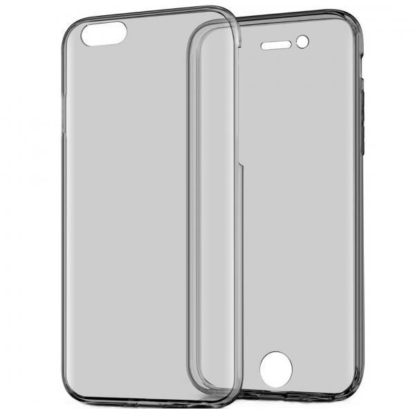 Husa Full TPU 360 (fata + spate) pentru Apple iPhone 6 / 6S, Gri Transparent 2