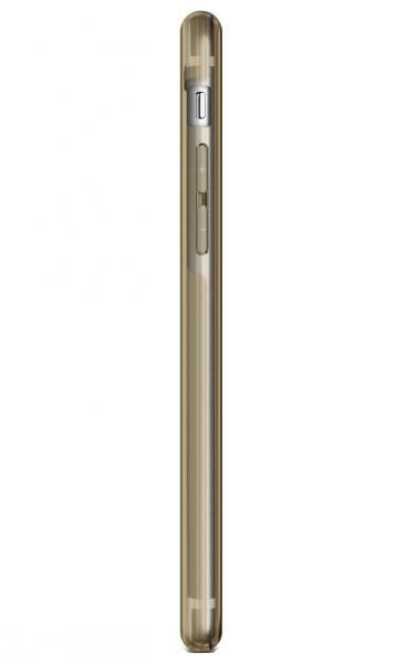 Husa Full TPU 360 (fata + spate) pentru Apple iPhone 6 Plus / 6S Plus, Auriu Transparent