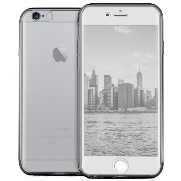 Husa Full TPU 360 (fata + spate) pentru Apple iPhone 7, Gri transparent