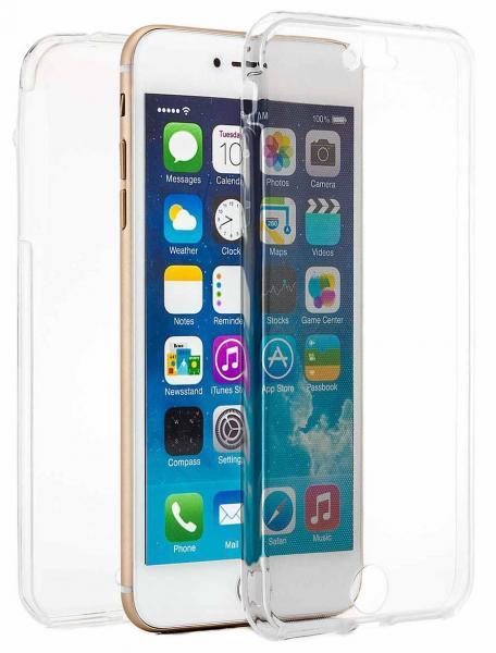 Husa Full TPU 360 (fata + spate) pentru Apple iPhone 7 Plus, Transparent 1