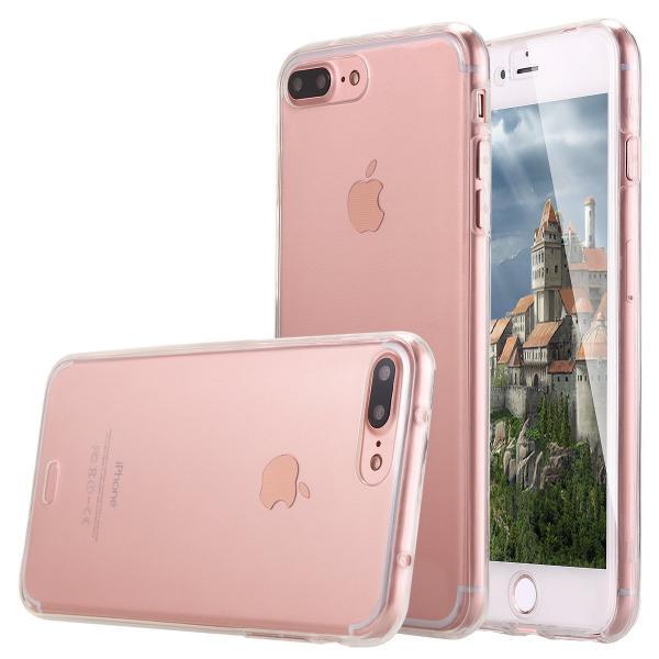 Husa Full TPU 360 (fata + spate) pentru Apple iPhone 7 Plus, Transparent 0