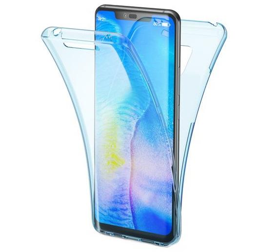 Husa Full TPU 360 fata + spate pentru Huawei Mate 20 Pro, Albastru Transparent [0]