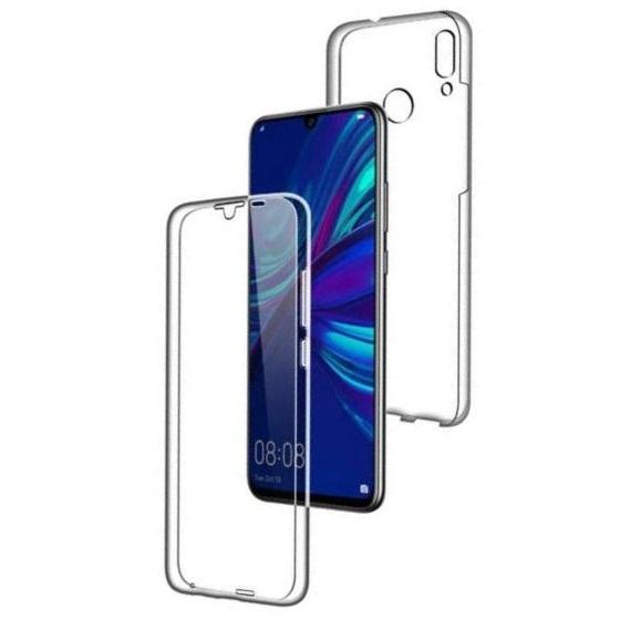 Husa Full TPU 360 fata + spate pentru Huawei P Smart (2019), Transparent 0