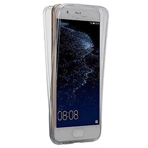 Husa Full TPU 360 (fata + spate) pentru Huawei P10, Gri Transparent 0