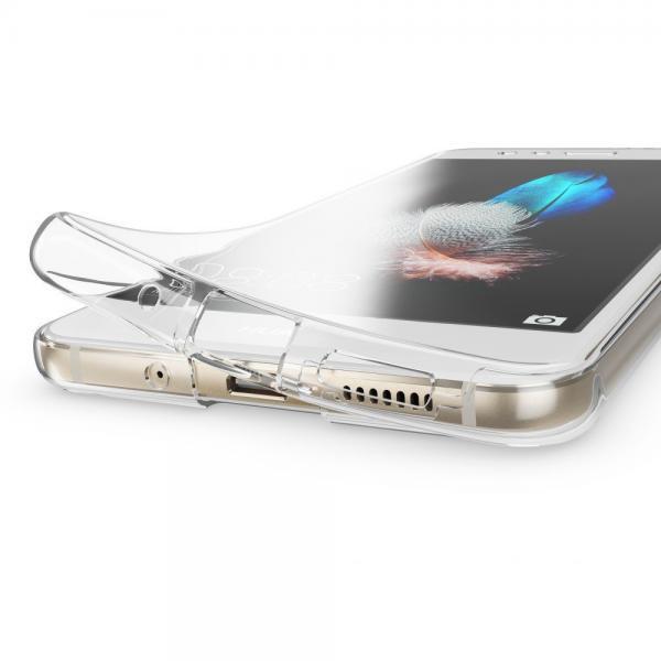 Husa Full TPU 360 (fata + spate) pentru Huawei P10 Lite, Gri Transparent 1