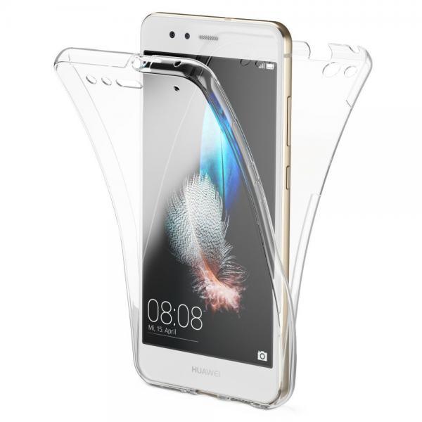 Husa Full TPU 360 (fata + spate) pentru Huawei P10 Lite, Transparent 0