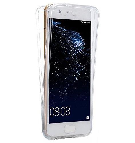 Husa Full TPU 360 (fata + spate) pentru Huawei P10, Transparent 0