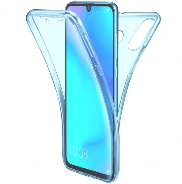 Husa Full TPU 360 fata + spate pentru Huawei P30 Lite, Albastru Transparent 0