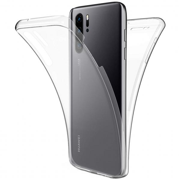 Husa Full TPU 360 fata + spate pentru Huawei P30 Pro, Transparent 0