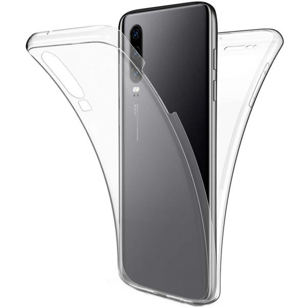 Husa Full TPU 360 fata + spate pentru Huawei P30, Transparent 0