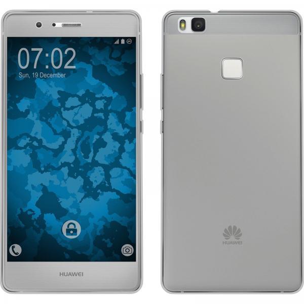 Husa Full TPU 360 (fata + spate) pentru Huawei P9 Lite, Gri Transparent [0]