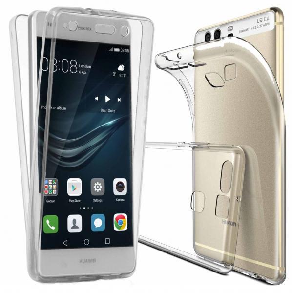 Husa Full TPU 360 (fata + spate) pentru Huawei P9, Transparent [0]