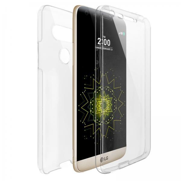 Husa Full TPU 360 (fata + spate) pentru LG G5, Transparent 0
