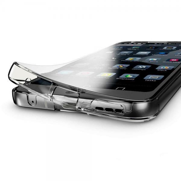 Husa Full TPU 360 (fata + spate) pentru LG G6, Gri Transparent 1