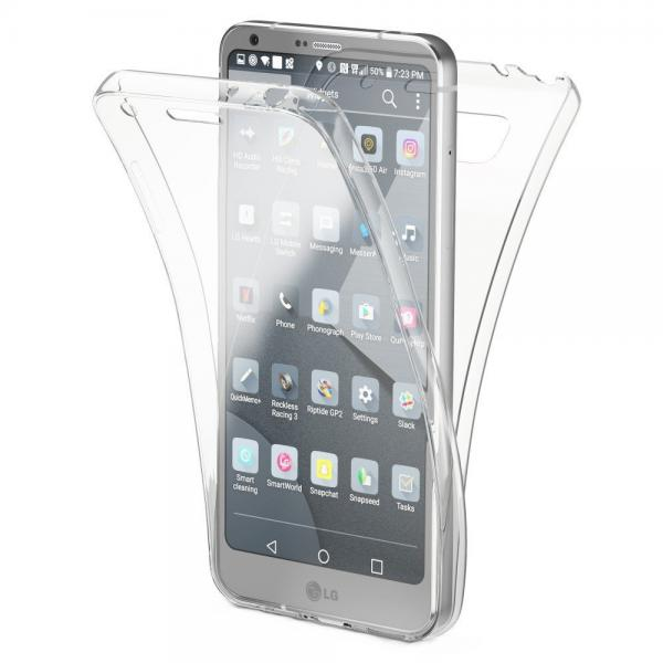 Husa Full TPU 360 (fata + spate) pentru LG G6, Transparent 0