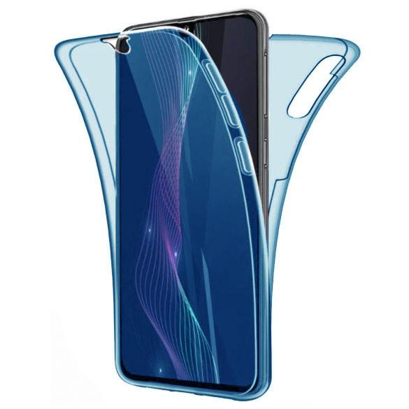 Husa Full TPU 360 fata + spate pentru Samsung Galaxy A20e, Albastru Transparent [0]