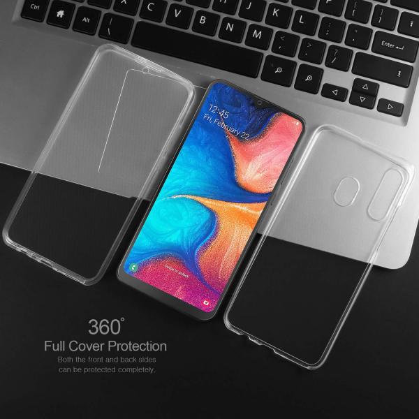 Husa Full TPU 360 fata + spate pentru Samsung Galaxy A20e, Transparent [4]