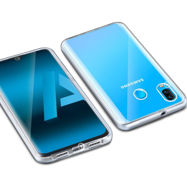 Husa Full TPU 360 fata + spate pentru Samsung Galaxy A30, Transparent 2