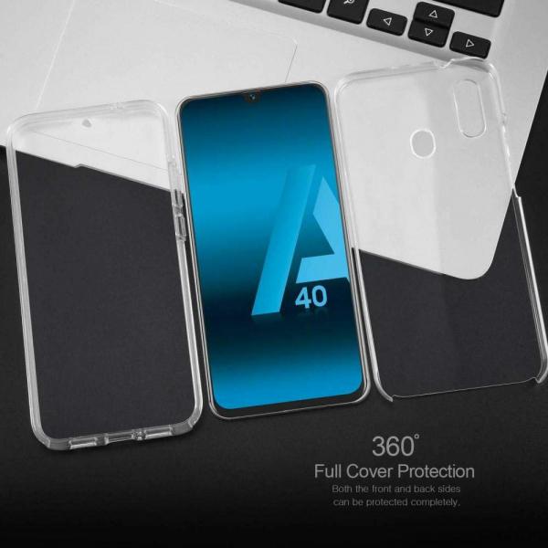 Husa Full TPU 360 fata + spate pentru Samsung Galaxy A40, Transparent 2