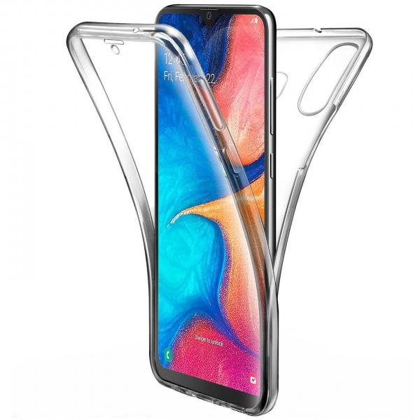 Husa Full TPU 360 fata + spate pentru Samsung Galaxy A40, Transparent 0