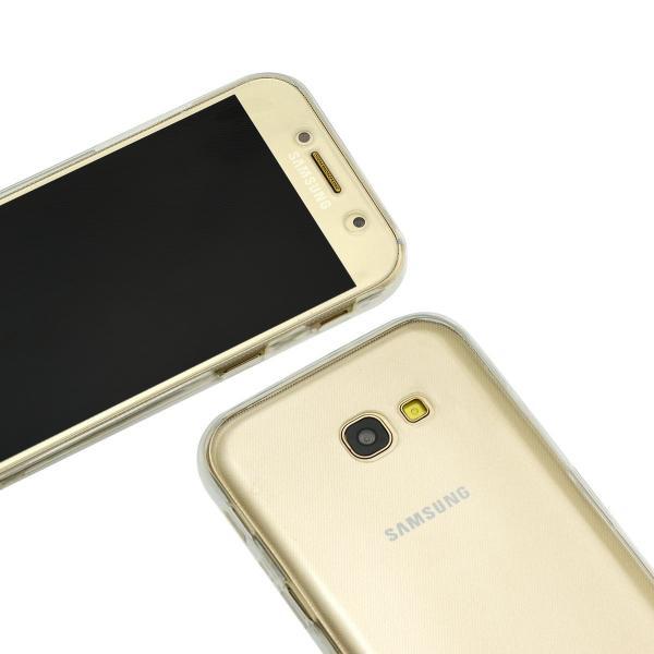 Husa Full TPU 360 (fata + spate) pentru Samsung Galaxy A5 (2017), Transparent 2