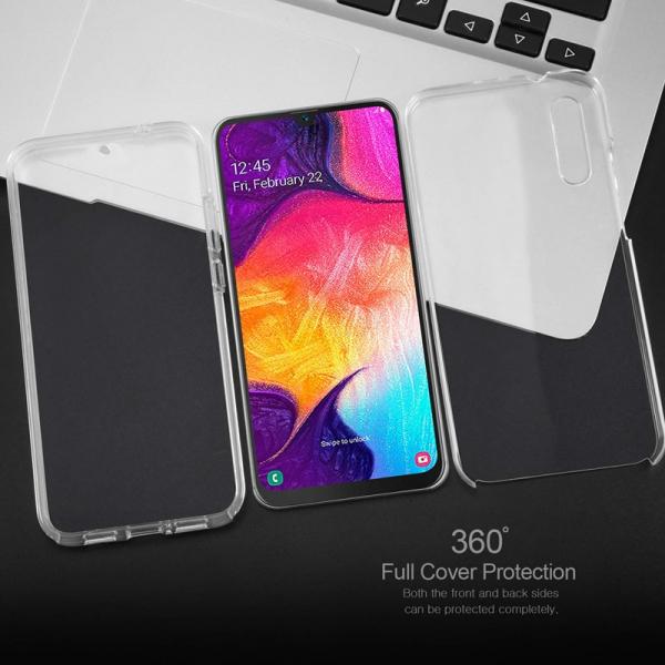 Husa Full TPU 360 fata + spate pentru Samsung Galaxy A50, Transparent 3