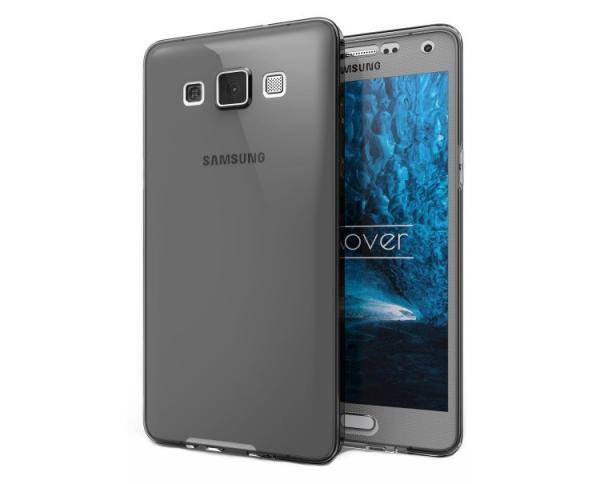 Husa Full TPU 360 (fata + spate) pentru Samsung Galaxy A7 (2015), Gri Transparent 0