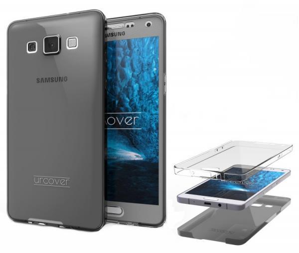 Husa Full TPU 360 (fata + spate) pentru Samsung Galaxy A7 (2015), Gri Transparent 1